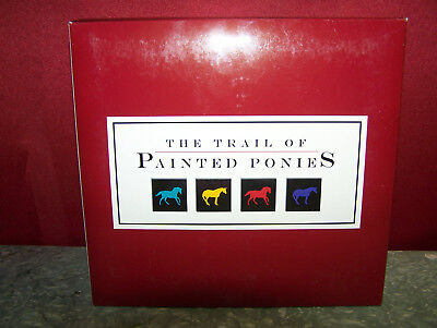 CHEYENNE PAINTED RAWHIDE, Trail Of Painted Ponies,1E5571,NEW Resin Figurine,Box.