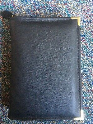 Genuine Black leather  bible cover for standard New World Translation (DLbi12-E)