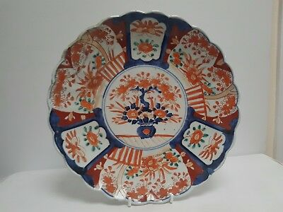 Early Japanese Ribbed Imari Plate/Charger