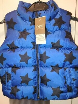 gorgeous boys 9-12 months NEXT gilet body warmer BRAND NEW WITH TAGS