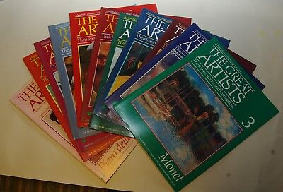 The Great Artists Magazine By Marshall Cavendish - 12 Copies