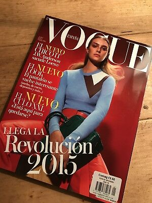Vogue Spain Spanish Fashion Magazine January 2015 Sigrid Agren Cover