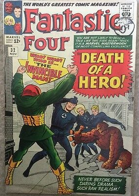 Marvel Comics FANTASTIC FOUR Vol 1 Issue 32   Fine