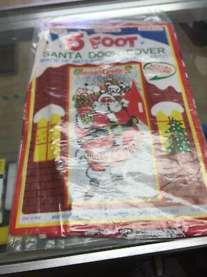 Vintage Santa CLAUS CHRISTMAS  DOOR COVER-NEW SEALED