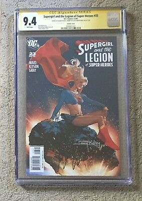 Supergirl and the Legion of Super Heroes #23 CGC 9.4 Triple Signed