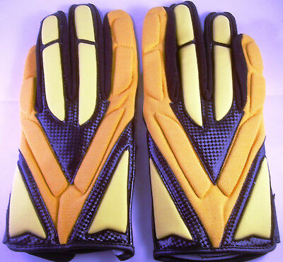 Full Force Football Handschuhe,HORNET, Gr. XXL, black/gelb, LB, RB, CB