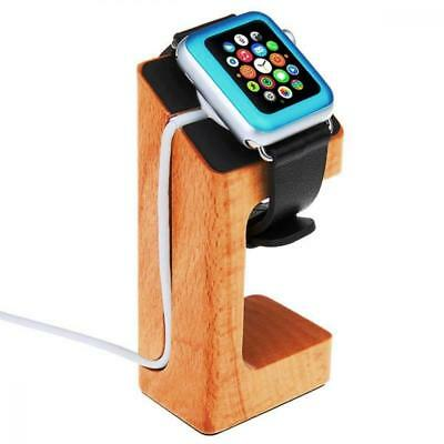 Charging Dock Charging Stand for 38mm 42mm Apple Watch Nomad Style Natural Wood