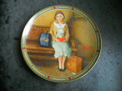 """Edwin M Knowles China Norman Rockwell """"A Young Girl's Dream"""" Collector Plate"""