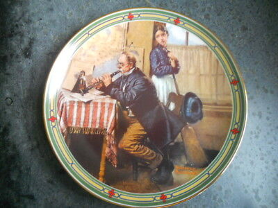 """Edwin Knowles """"Musician's Magic"""" 1986 Norman Rockwell Collector Plate # 10512A"""