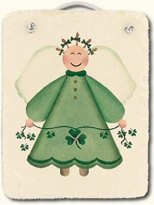 Irish Angel Hand-stenciled Slate