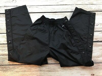 Vintage Nike Womens Large 12-14 Black Nylon Breakaway High Waisted Pants