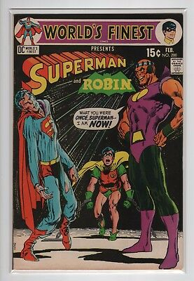 World's Finest  #200  (VF- 7.5)  1971 DC  ~Neal Adams Superman Cover~