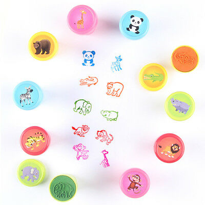 10Pcs/Set Stamps Kids Toys Animals Fruit Learning Recognition Training For Funny