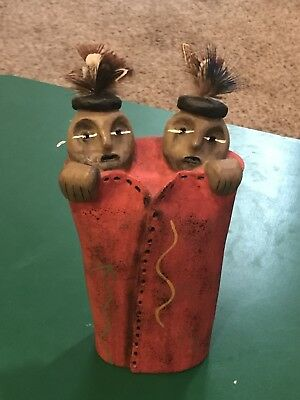 Judy Peele Tribal People Pottery Sculpture Ltd. Ed. Signed and Numbered.