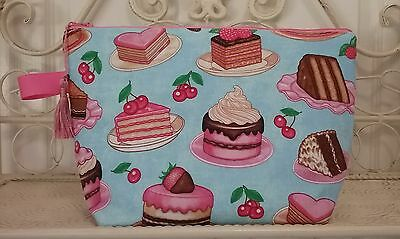 Handmade Sweet Treats Cupcake Knitting,Crochet Project Bag
