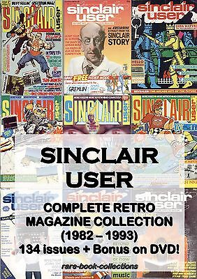 SINCLAIR USER MAGAZINE - 134 ISSUES ON DVD + BONUS! ZX SPECTRUM retro 80s games