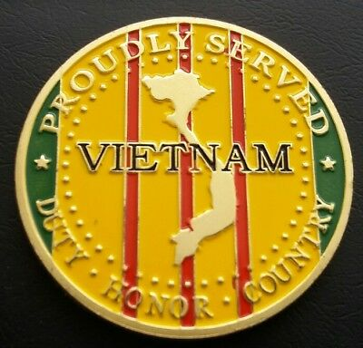 USMC Proudly Served *VIETNAM* Duty,Honor & Country Challenge Coin FREE COIN STAN