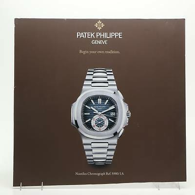 Patek Philippe Geneve Nautilus Chronograph Watch Poster Advertising Sign Mount