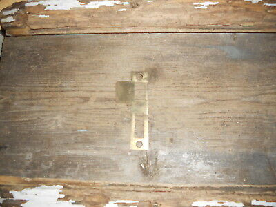 1 Vintage Heavy Brass Metal Antique Door Strike Plate, Jewelry Craft Use