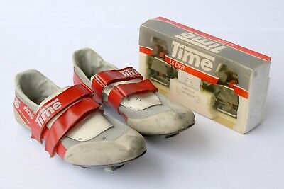 Vintage Time Racing Pedals and Time Racing Shoes, size 43 - pedalling history