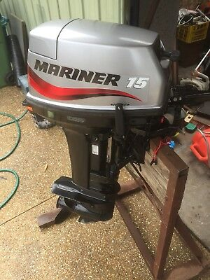 2003 Mariner 15Hp Outboard short shaft 16.9inch, videos via sms read listing...