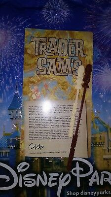 Disney Trader Sam's Drink Menu And Swizzle Sticks