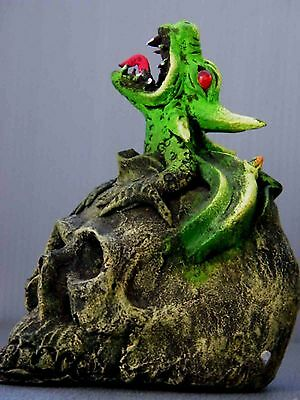 Obnoxious Green Evil Pop Out From The Skull Sculptural Work Collection Gift