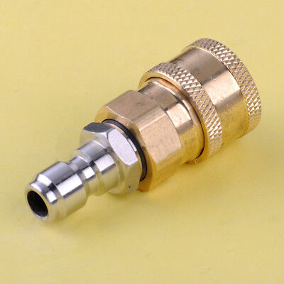 "Brass Pressure Washer Quick Connector M22x14mm 1/4"" Coupler Plug 4000 PSI"