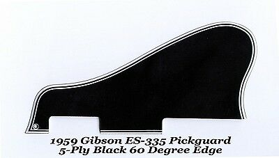 ES-335 LONG 1959 Pickguard 5-Ply Black 60 Deg Vintage for Gibson Guitar Project