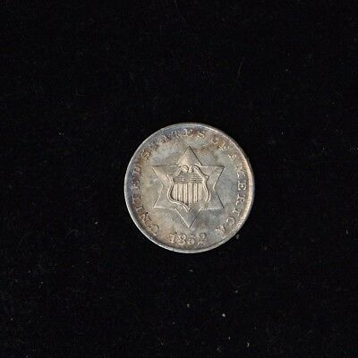1852 3C Silver Three Cent Piece Trime Beautiful Us Type Coin (Fc-D1B2B16)