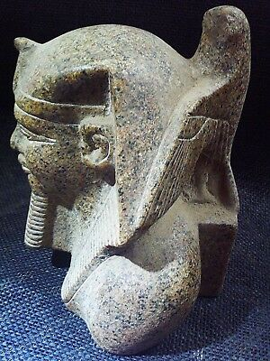 ANCIENT EGYPTIAN ANTIQUE Horus Protecting King Khafra Sculpture 2520–2494 BC