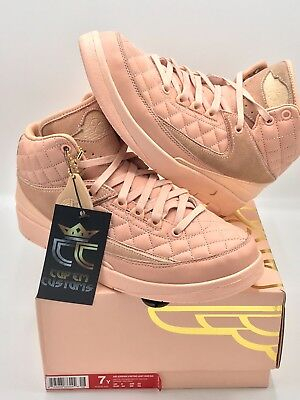 f1b99dcd90cb PRE-OWNED LIMITED Air Jordan 2 x Just Don Retro GG ARCTIC ORANGE YOUTH SIZE