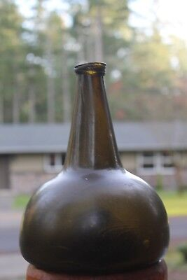 pontil hoof type (1700's)  brandy bottle