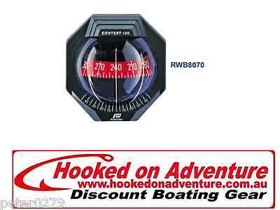 Contest 130 Sailboat Compass RWB8074 Bracket Mount Black Compass Red Card