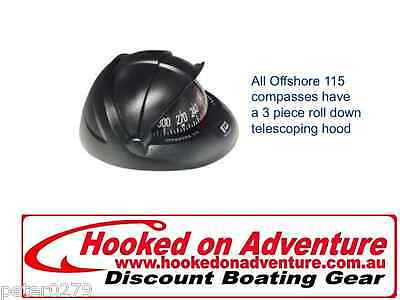 Compasses Offshore 115 Powerboat Compasses RWB8093 Flush, Black, Flat Card