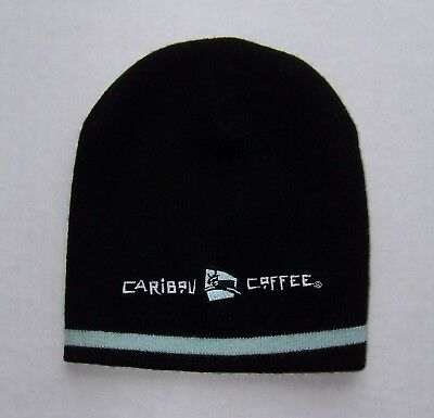 Caribou Coffee 'Life is short, stay awake for it' Winter Beanie Hat ~ OSFA