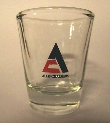 Allis Chalmers Farm Tractors Logo On A Clear Shot Glass