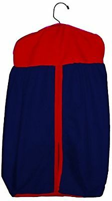Baby Doll Bedding  Solid Two tone  Diaper Stacker Navy/Red