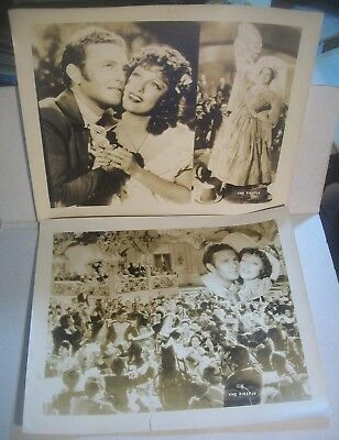 1937 'THE FIREFLY'  2 Jumbo Lobby Cards Jeanette MacDonald Allan Jones SPY MOVIE