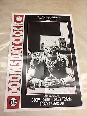 Doomsday Clock DC Folded Promo Poster (15 x 22 inches) 2017 LEX LUTHOR