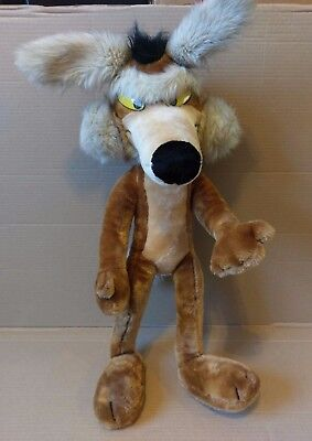 "Vintage 1993 24K Mighty Star Wile E Coyote 28"" Plush Warner Bros. Looney Tunes"