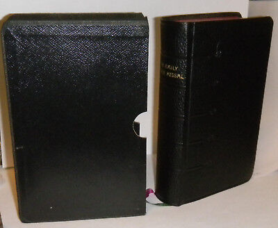 daily roman missal, vintage, made in Belgium. comes with case.great condition