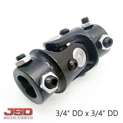 "New Black Universal Steering U Joint Hot Rat Street Rod 3/4"" DD x 3/4"" DD"