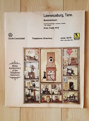 Vintage 1978 Lawrenceburg, Tennessee Telephone  Directory Book