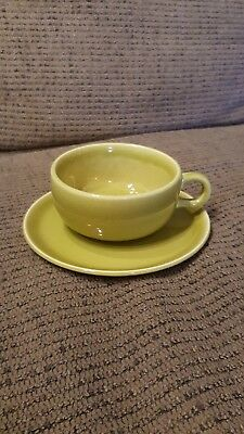 RUSSEL WRIGHT American Modern Chartreuse Cup and Saucer