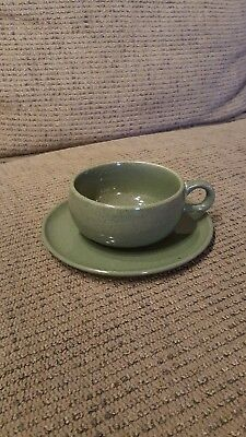 RUSSEL WRIGHT American Modern Green Cup and Saucer