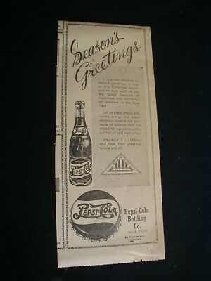vintage 1947 pepsi cola newspaper ad seasons greeting paper clipping local ad