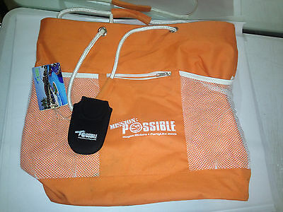 Partylite Consultant Exclusive Large Tote Bag ORANGE MISSION IMPOSSIBLE MAYAN
