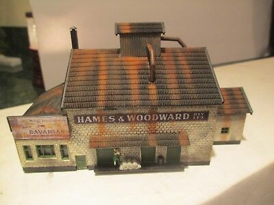 Beautiful Detailed & Harshly Weathered Realistic N Scale  Factory Building