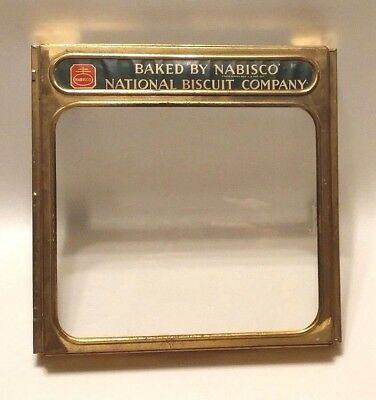 Antique National Biscuit Company Nabisco Display Box Cover With Glass Face